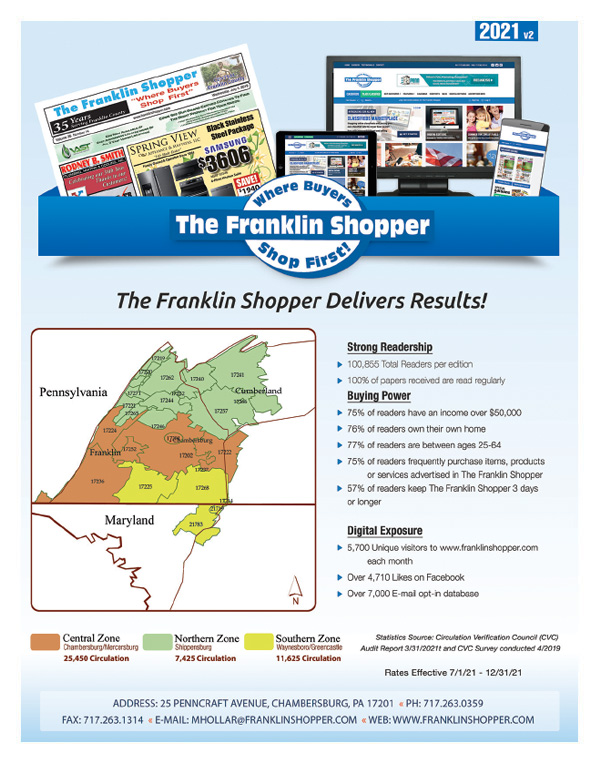 Print & Online Advertising in Chambersburg, PA & Hagerstown, MD