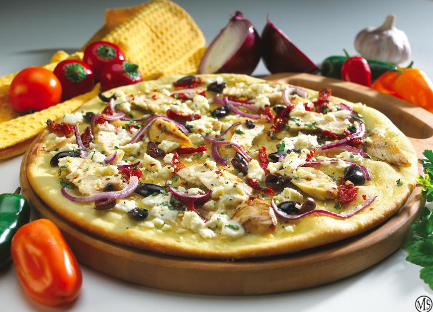 Grill a Mediterranean Pizza Pie