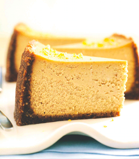 Recipe: Pumpkin Cheesecake with Gingersnap Crust