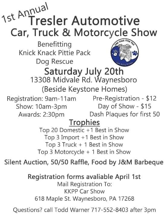 1st Anual KKPP Tresler Automotive Car, Truck, and Motorcycle Show