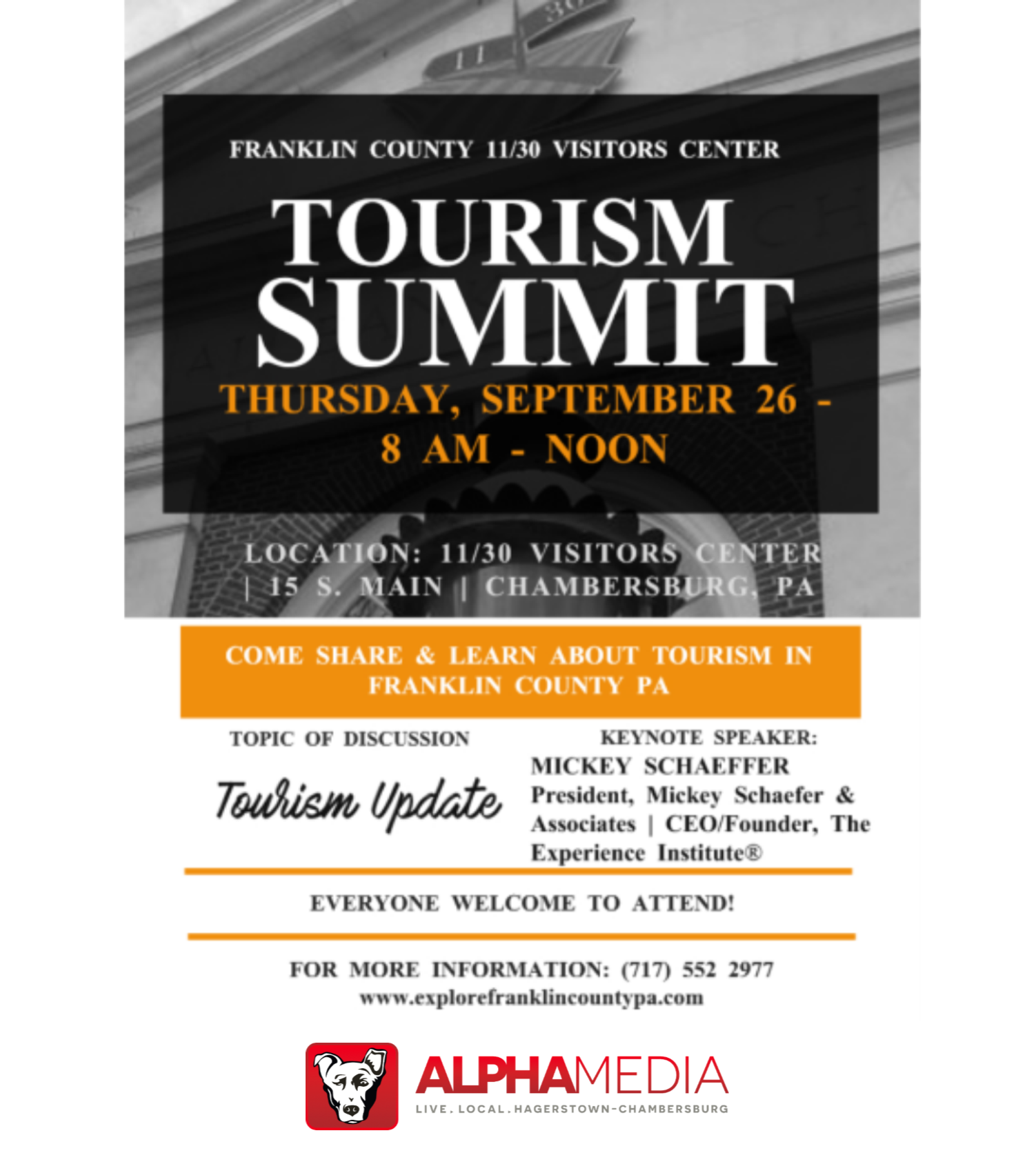 Franklin County 11/30 Visitors Center 2019 Tourism Summit