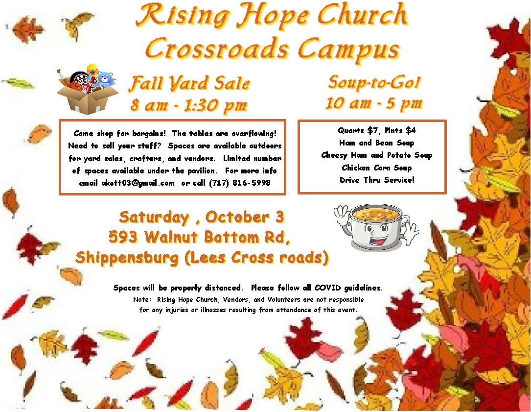 Rising Hope Church Fall Yard Sale
