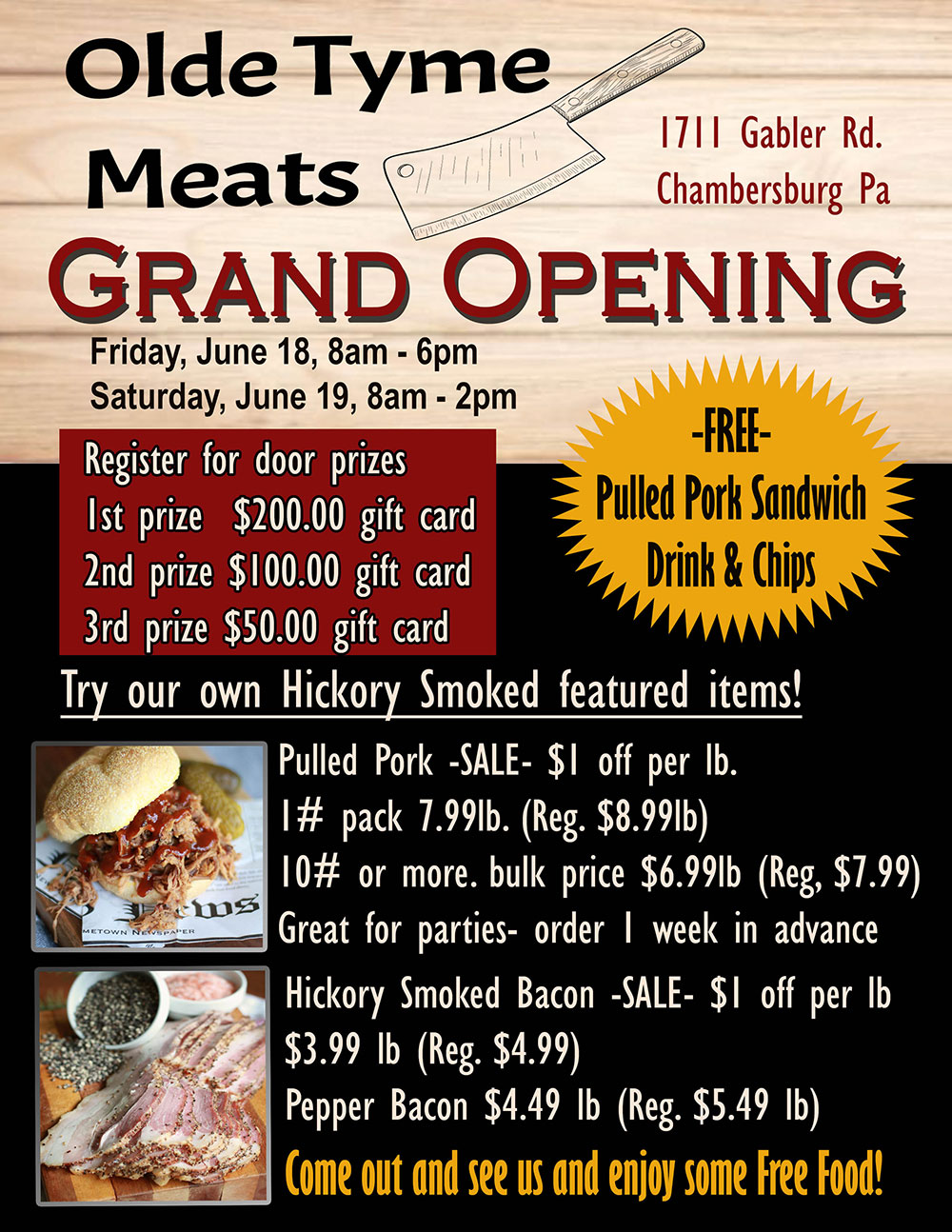 Olde Tyme Meats Grand Opening